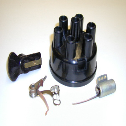 Picture of Tune-Up Kit  Includes Cap, Points,Rotor & Condser 6 Cyl Includes Cap, Points Rotor And Condensor, 1939 1940 1941 1942 1946 1947 1948 Please Include Distributor Number When Ordering