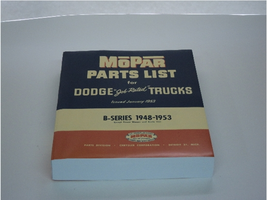 Picture of Parts Manual B-Series Dodge Trucks 1948 1949 1950 1951 1952 1953