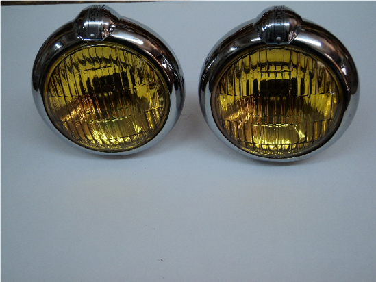 Picture of Foglight (6 Volt Mopar Script) 5 Inches Chrysler Dodge Desoto Plymouth Dodge Truck Plymouth Truck Fargo Truck