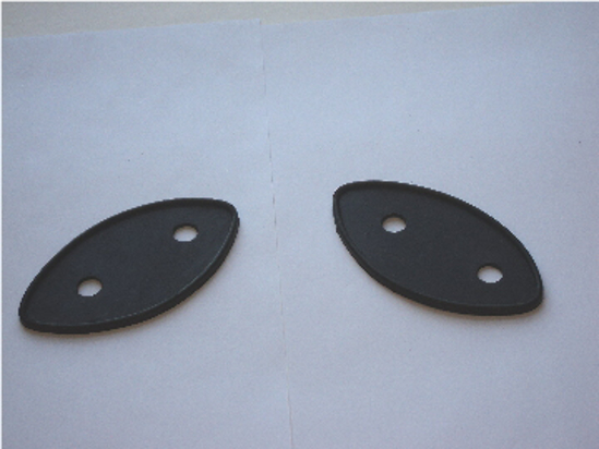 Picture of Cowl Light Mounting Pads Pair Dodge Truck Plymouth Truck 1941-1947, Also 1946-1968 Power Wagons With Cowl Lights.
