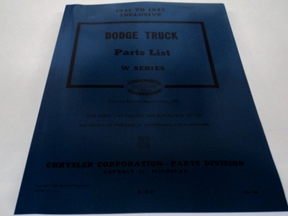 Picture of Parts Manual Dodge Truck W-Series 1941-1947