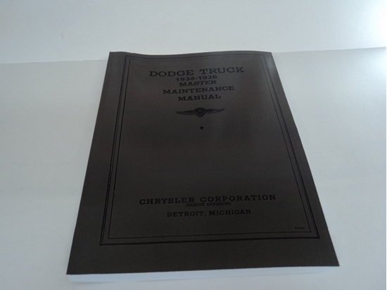 Picture of Shop Manual Dodge Truck 1934 1935 1936