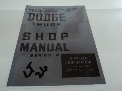 Picture of Shop Manual Dodge Truck 1938 1939
