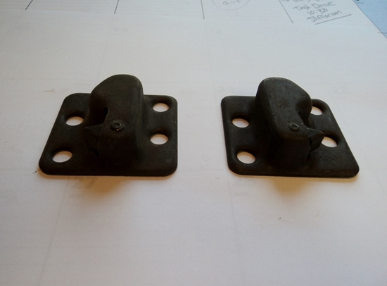 Picture of Door Strikers Pair Chrysler Dodge Plymouth Desoto 1939 to 1948