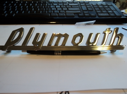 Picture of Plymouth Name Plate 1939 to 1941 Plymouth trucks