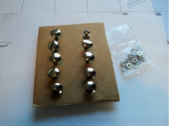 Picture of Center nose trim bolts for the moulding on 1941 to 1947 Dodge Trucks