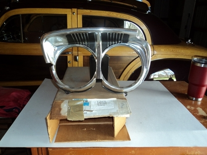Picture of 1967 Plymouth Fury Drivers side left hand headlight bezel 2582411